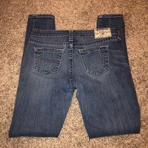 True Religion legging natural jeans